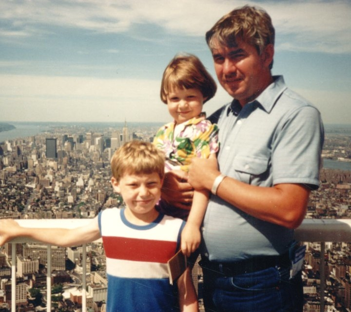 My Dad, my brother and me on top of the World Trade Center sometime around 1986.